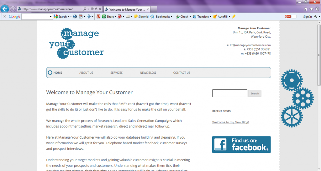 Manage Your Customer Screen Shot