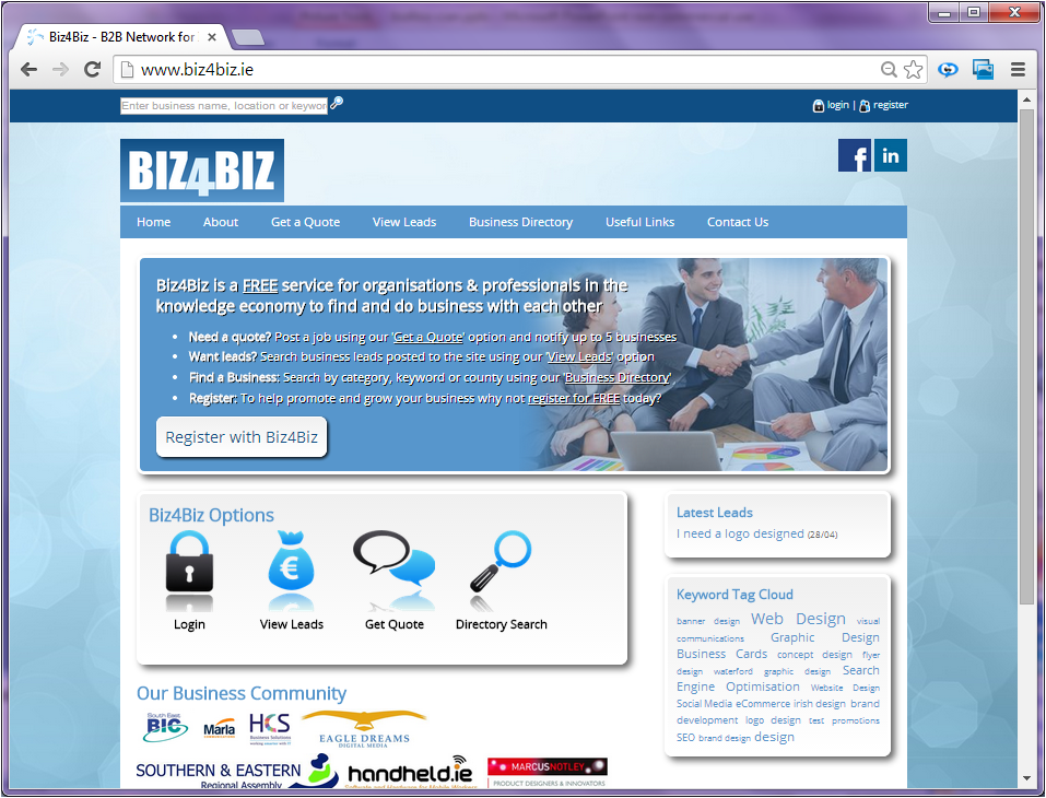 Biz4Biz Ireland's Knowledge Business Directory