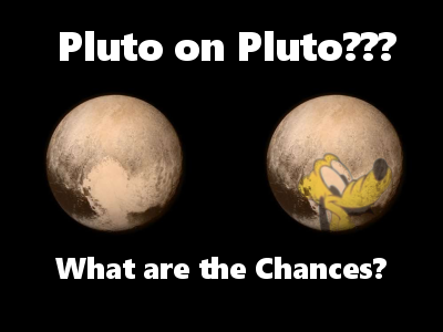 Walt Disney's Pluto on the Face of Pluto